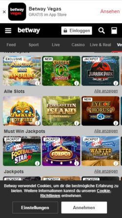 Betway Casino Mobile Apps